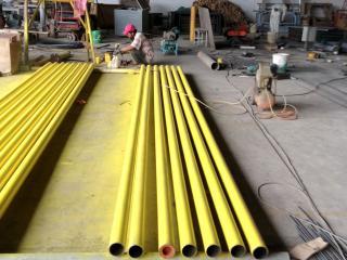 Panting pipeline at workshop